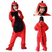 Кигуруми динозавр красный с черной грудкой детский