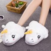 Тапочки для кигуруми Единорог белый без задника