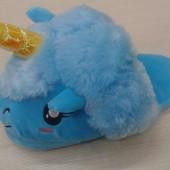 Тапочки для кигуруми Единорог голубой  без задника